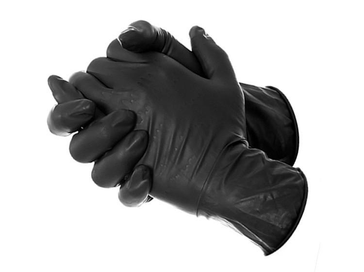 Luva Nitrílica Black Tamanho G - SUPERMAX