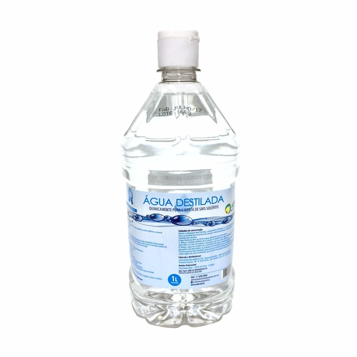 Água Destilada 1 Litro - ASFER
