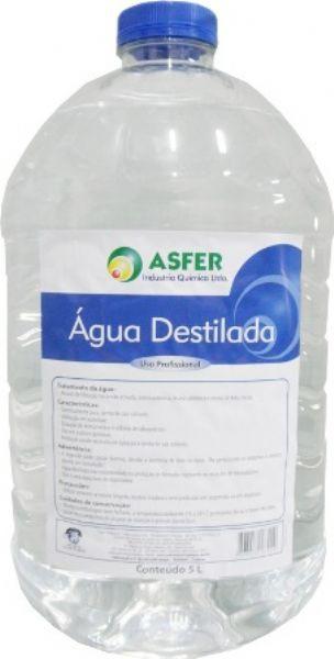 Água Destilada 5 Litros Caixa c/ 2 Unidades - ASFER