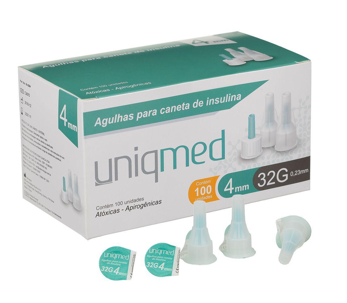 Agulha P/ Caneta de Insulina 32G 4MM (UNIDADE) - UNIQMED