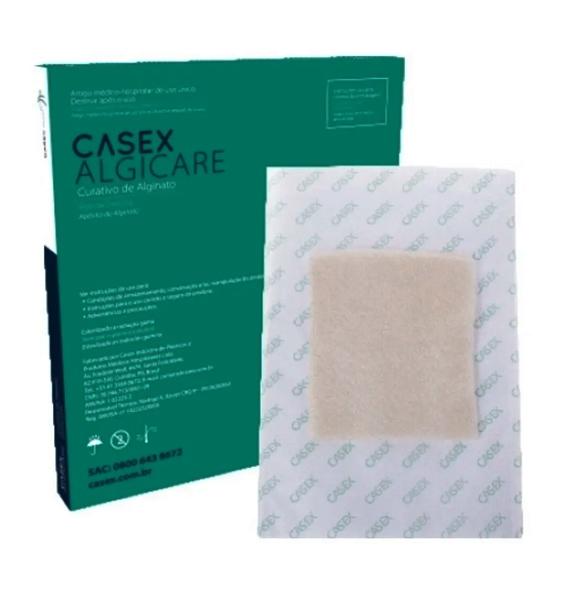 Alginato de Cálcio e Sódio 10cm X 10cm 01 UNIDADE - CASEX