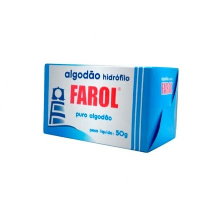 Algodão Hidrófilo 50g - FAROL