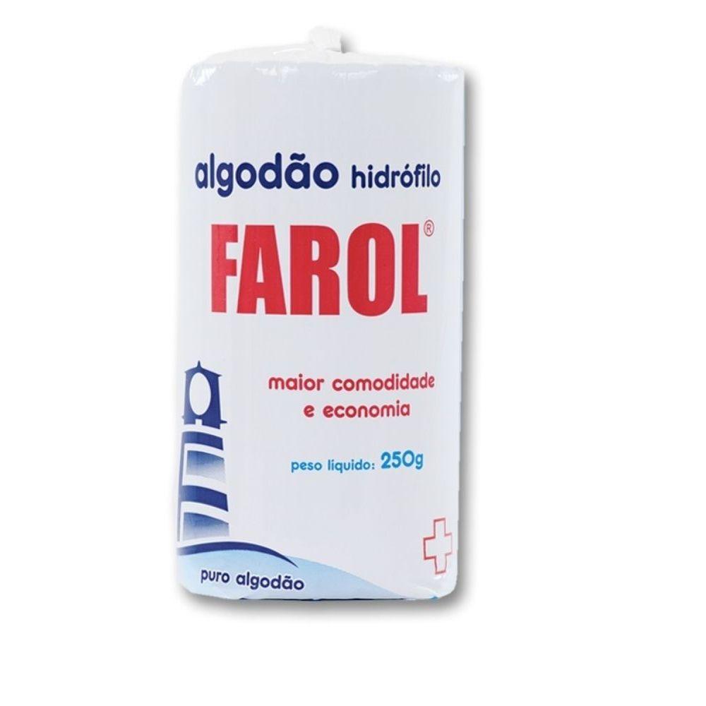 Algodão Hidrofilo Rolo 250g - FAROL
