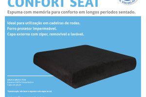 Almofada Confort Seat Preta 100% Genere Látex - PERFETTO