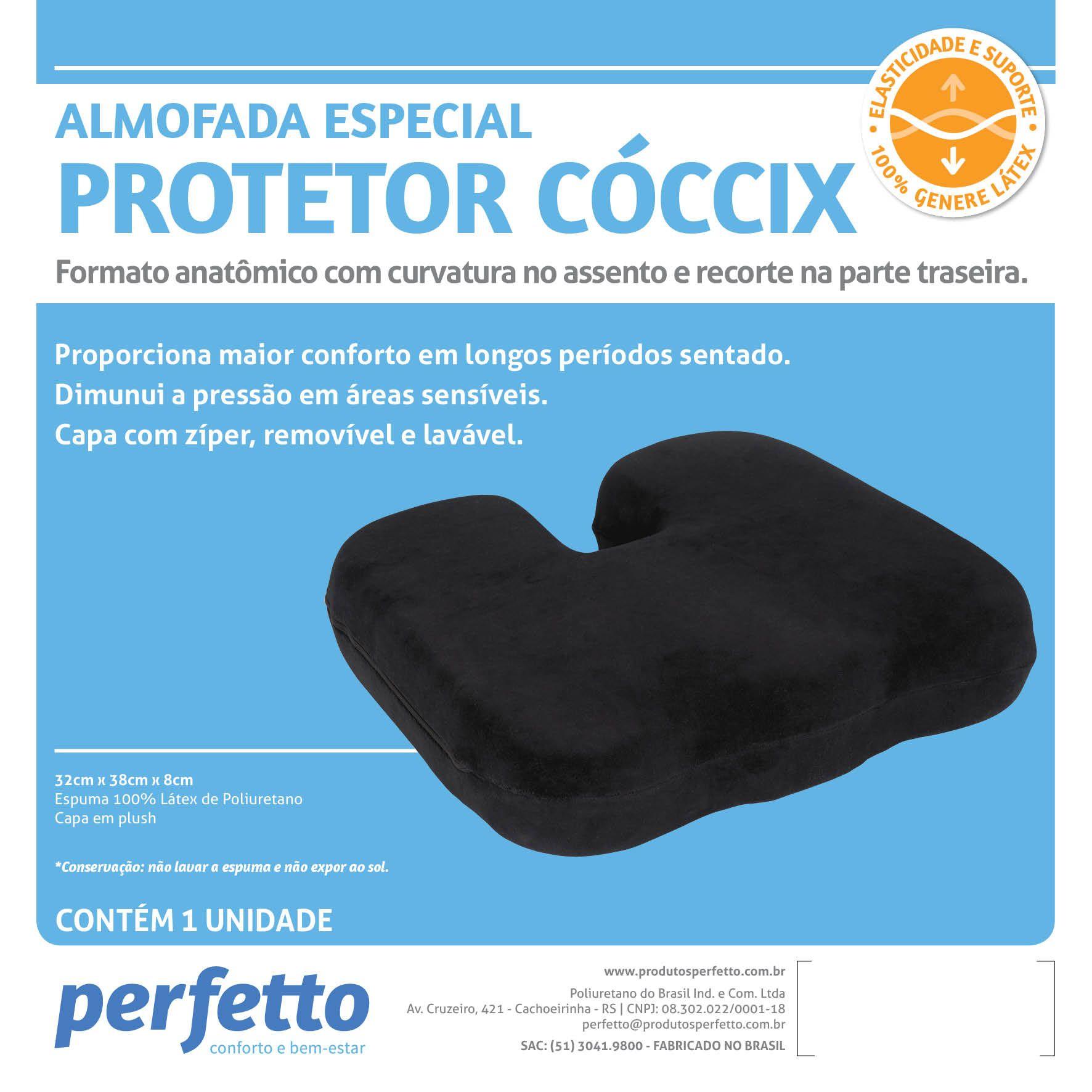 Almofada Protetor Cóccix Preto - PERFETTO