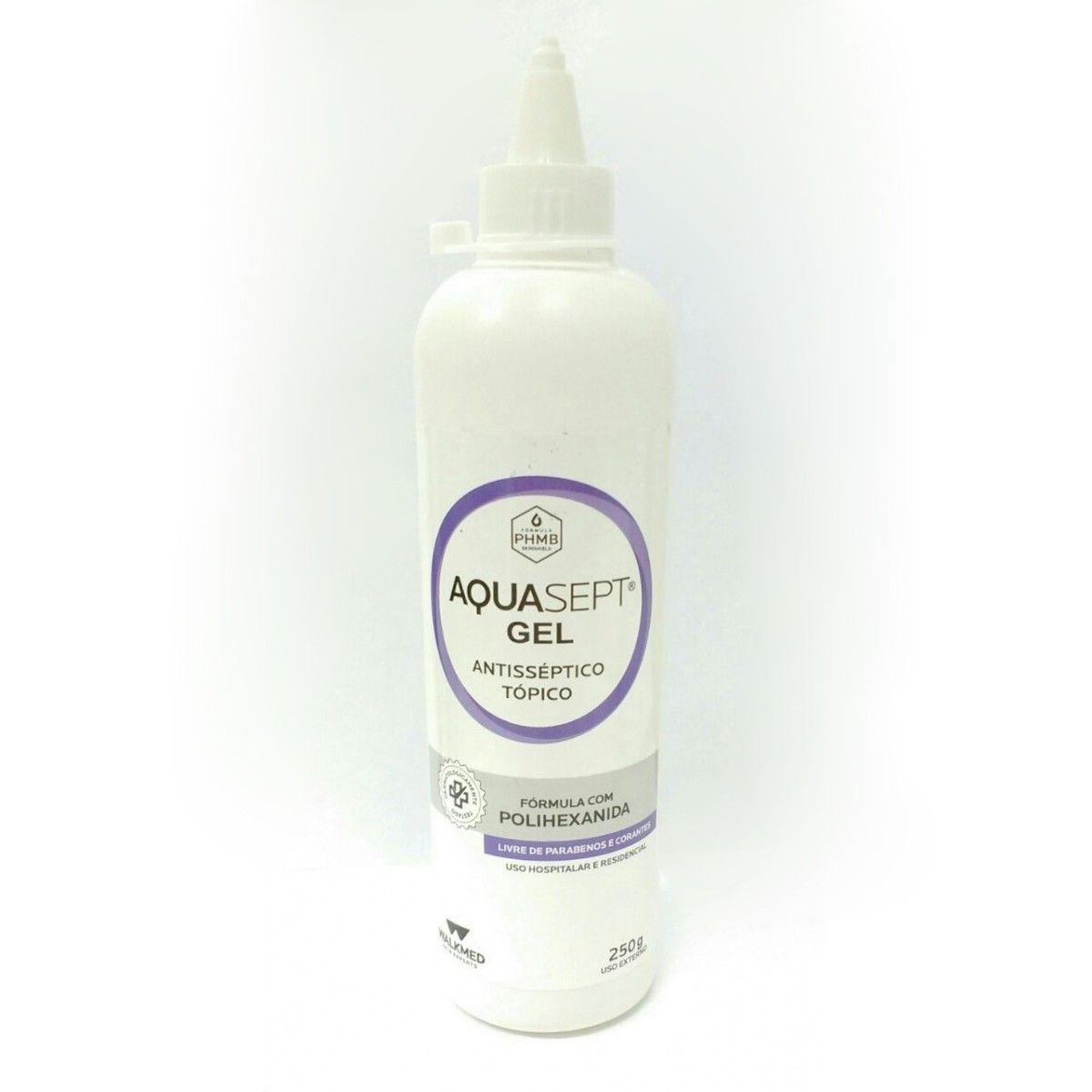 AquaSept Gel C/Fórmula Polihexanida 250G - WALKMED