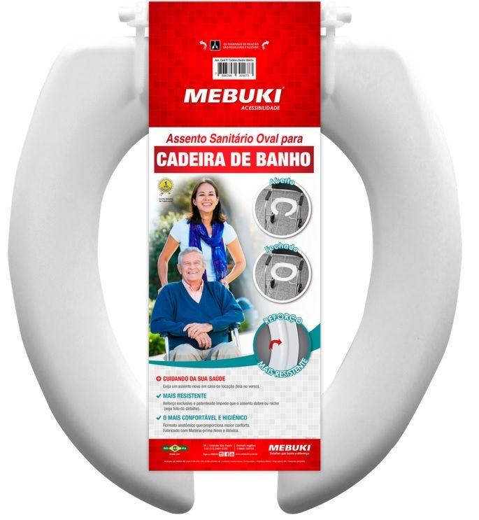 Assento Sanitário Oval Para Cadeira de Banho Aberta - MEBUKI