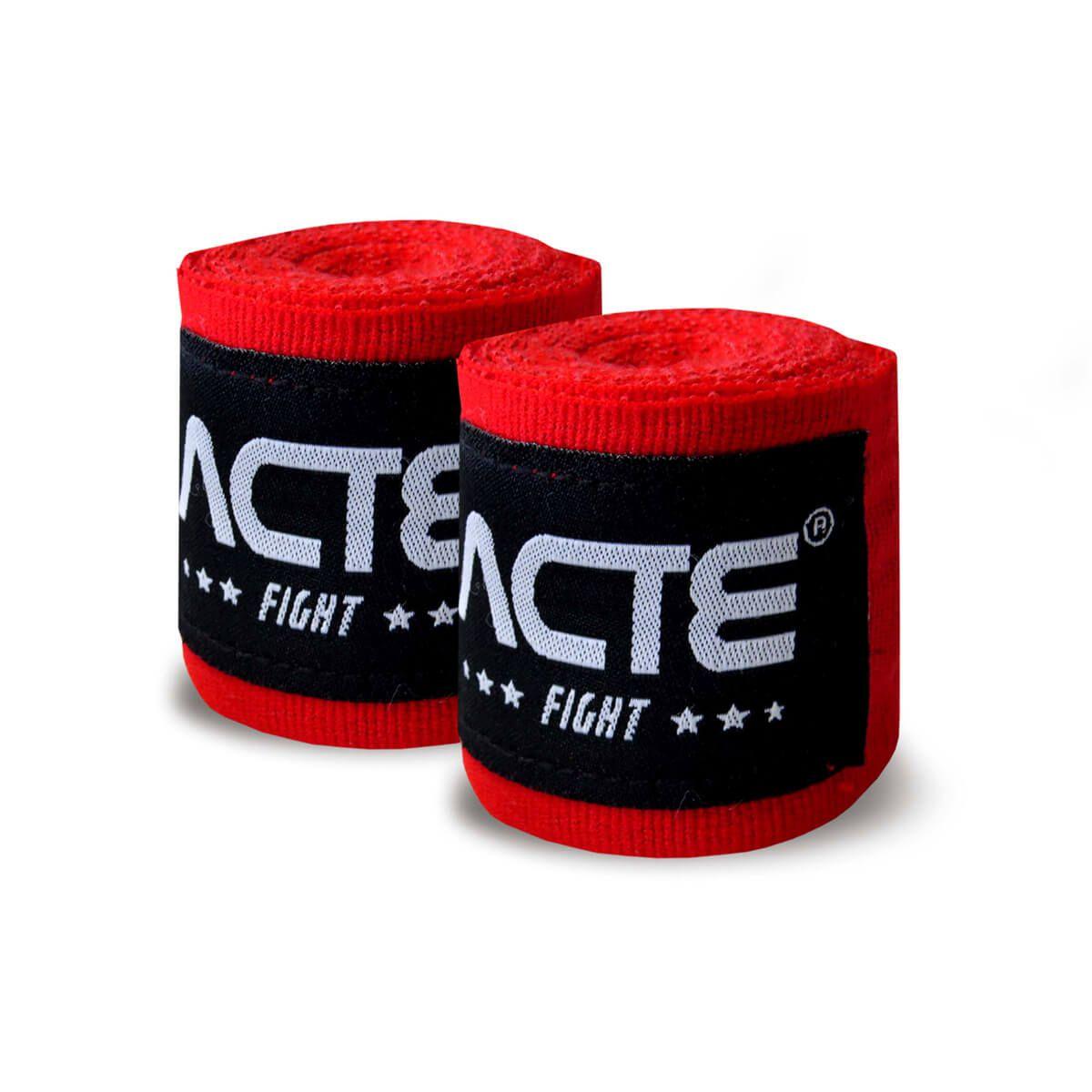 Bandagem 3,5m Vermelho Par - ACTE SPORTS
