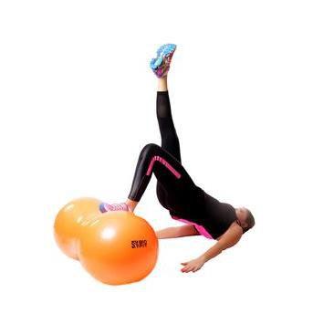 Bola Feijão Peanut  85cmx45cmx35cm Pilates Yoga c/bomba T22 ACTE