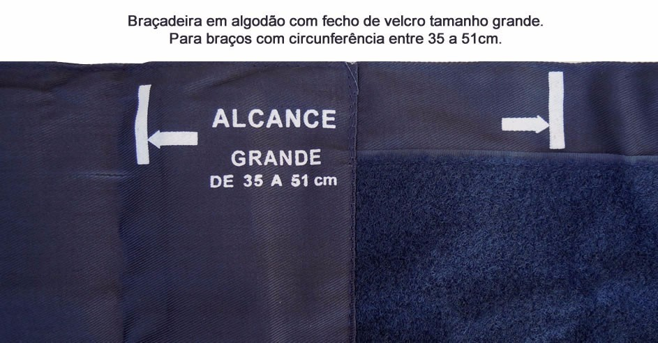 BRACADEIRA TAM GRANDE OBESO NYLON C/FECHO EM VELCRO P/ESFG PREMIUM