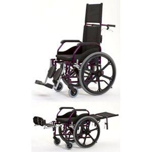 Cadeira de Rodas Fit Reclinável Preta - JAGUARIBE