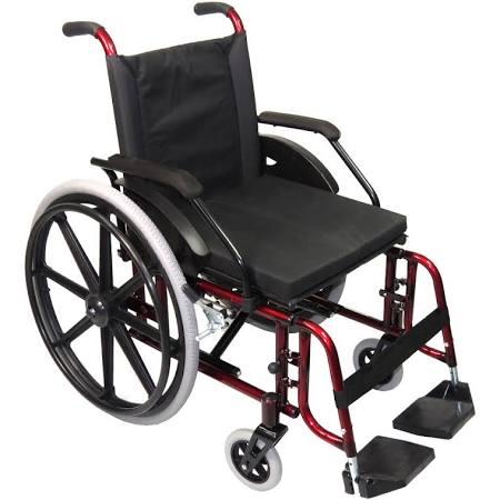 Cadeira de Rodas Modelo Confort 44cm Vermelha - CDS