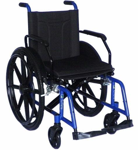 Cadeira de Rodas Modelo H10 Tamanho 44 Azul  - CDS