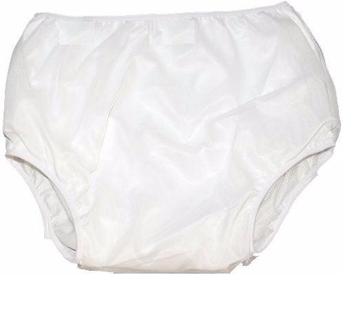 Calça Plástica Fechada Para Incontinência (Tamanho M - 44/46) Bege - DIAMANTE
