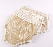 Calça Plástica Simples Fechada Bege 44 - DIAMANTE