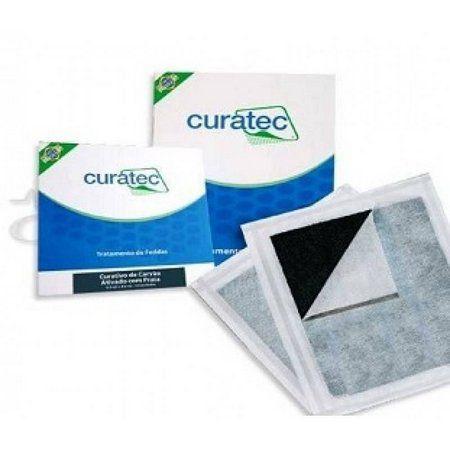 Carvao Ativado c/ Prata 10,5 cm  X 10,5 cm c/ 10 Unidades - CURATEC