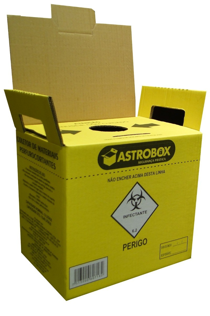 Coletor Perfuro Cortante 13L - ASTROBOX