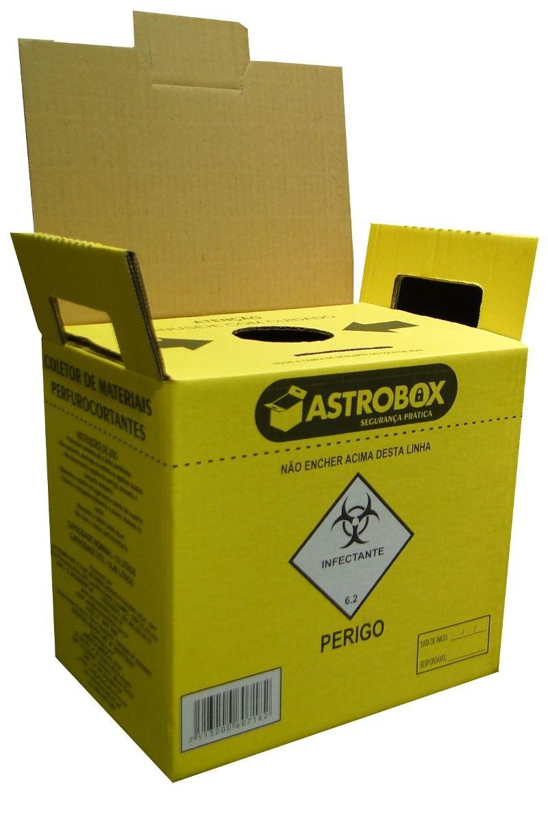 Coletor Perfuro Cortante 3L - ASTROBOX