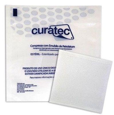 Compressa c/ Emulsão de Petrolatum 7,6cm X 7,6 cm - CURATEC