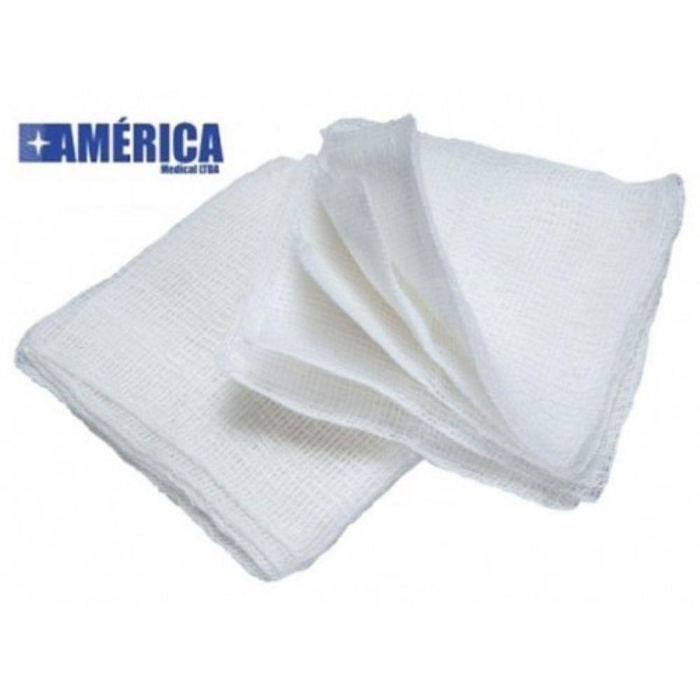 Compressa de Gaze 11 Fios 7,5 cm x 7,5 cm (Pacote c/ 10 Unidades) - AMERICA
