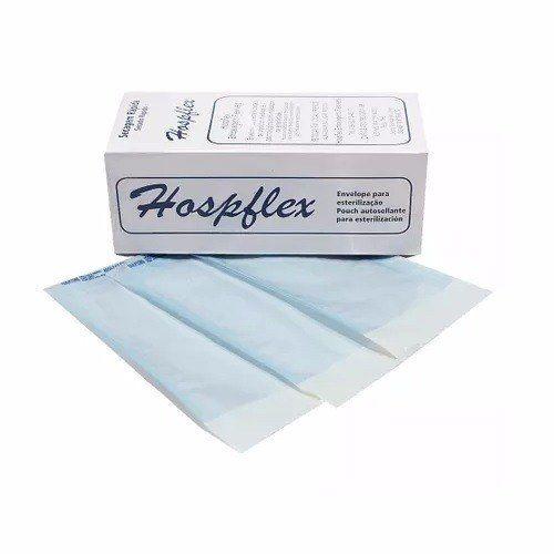 Envelope Para Esterilização 19x37 Caixa C/ 100 Unidades - HOSPFLEX