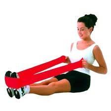 Faixa Elástica P/ Exercícios Vermelha (Média) - MERCUR