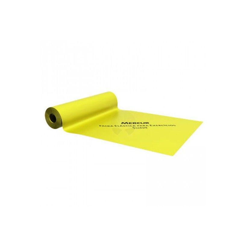 Faixa Elástica P/ Exercícios Amarela (Suave) - MERCUR