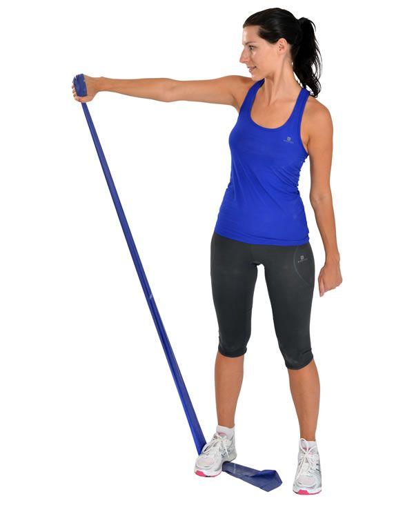Faixa Elástica P/ Exercícios Azul (Extra Forte) - MERCUR