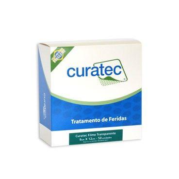 Filme Transparente Estéril 6 cm X 7 cm C/ Moldura e S/ Fenestra Caixa c/ 50 unidades - CURATEC