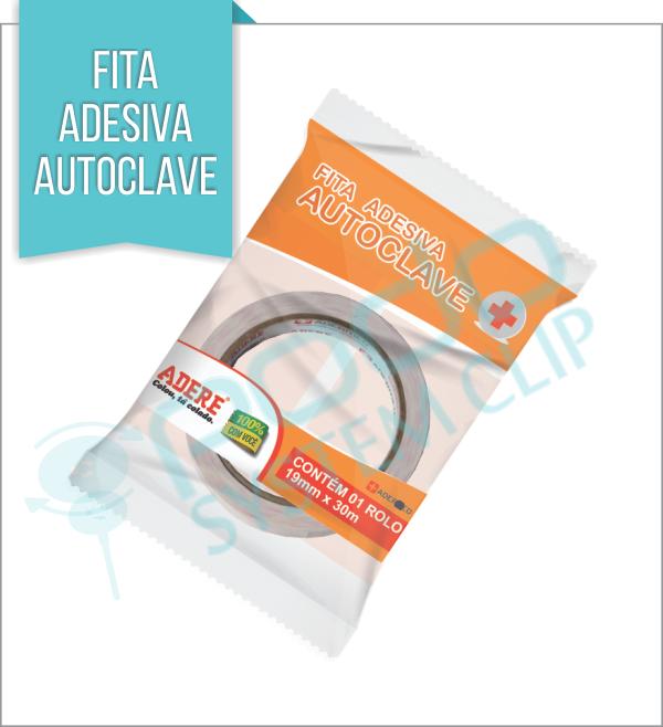 Fita Adesiva Autoclave 19mm x 30mm - ADERE