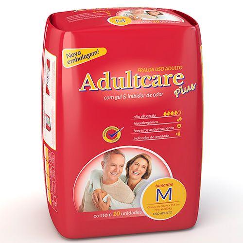 Fralda Plus Geriátrica M (Pacote c/ 10 Unidades) - ADULTCARE