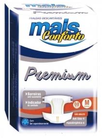 Fralda Premium Geriátrica M (Pacote c/ 8 Unidades) - MAIS CONFORTO