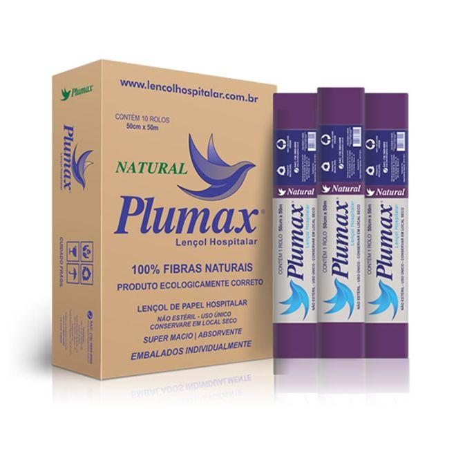 Lençol de Papel Hospitalar Natural 50 x 50 C/ 10 Unidades - PLUMAX