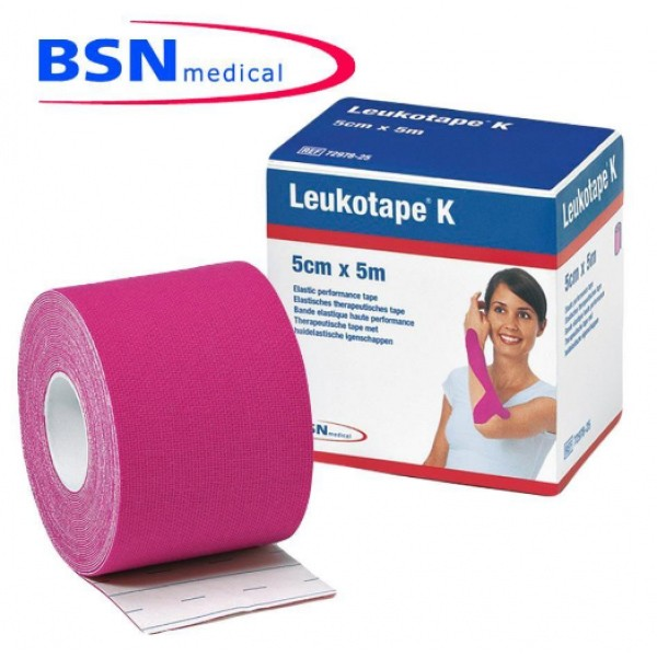 Fita de Kinésio Tape  Leukotape 5 cm x 5 m (Rosa) -  BSN Medical