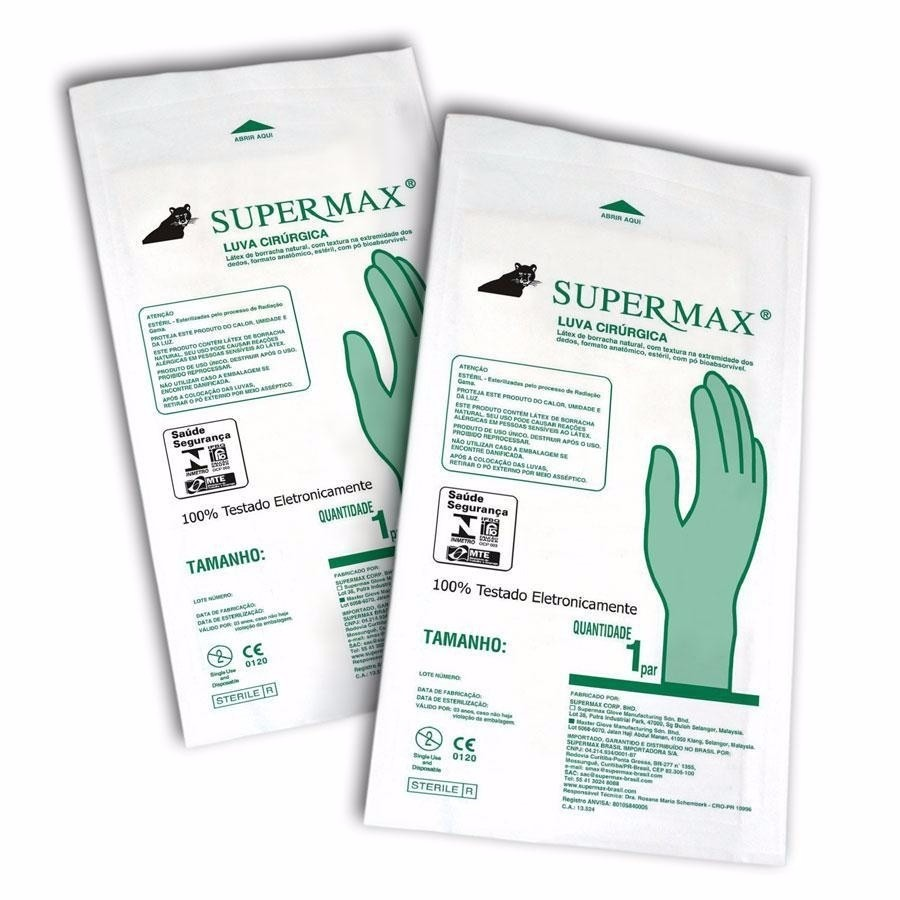 Luva Cirúrgica Estéril 8,0 - SUPERMAX