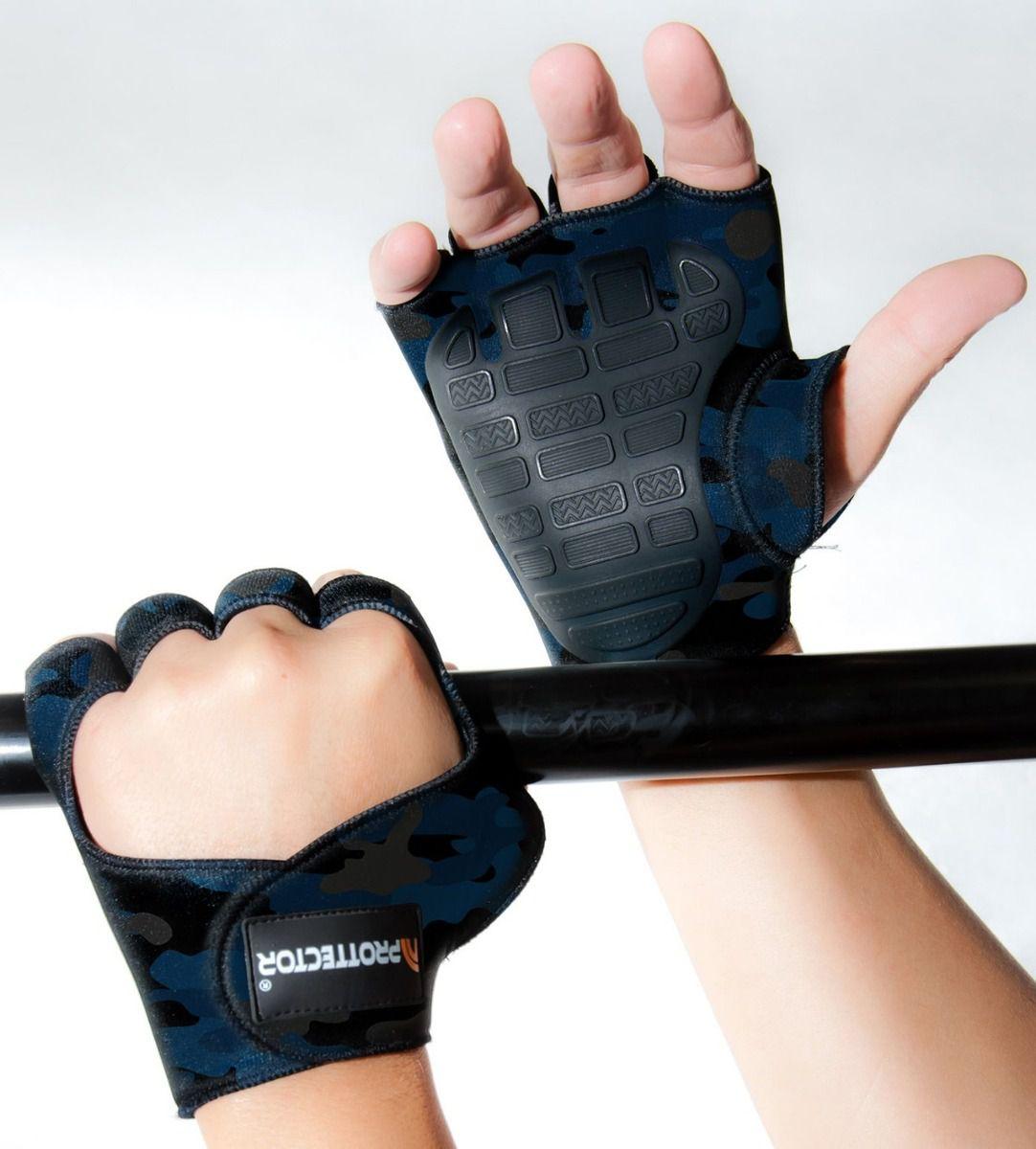 Luva de Musculação Preta P - PROTTECTOR