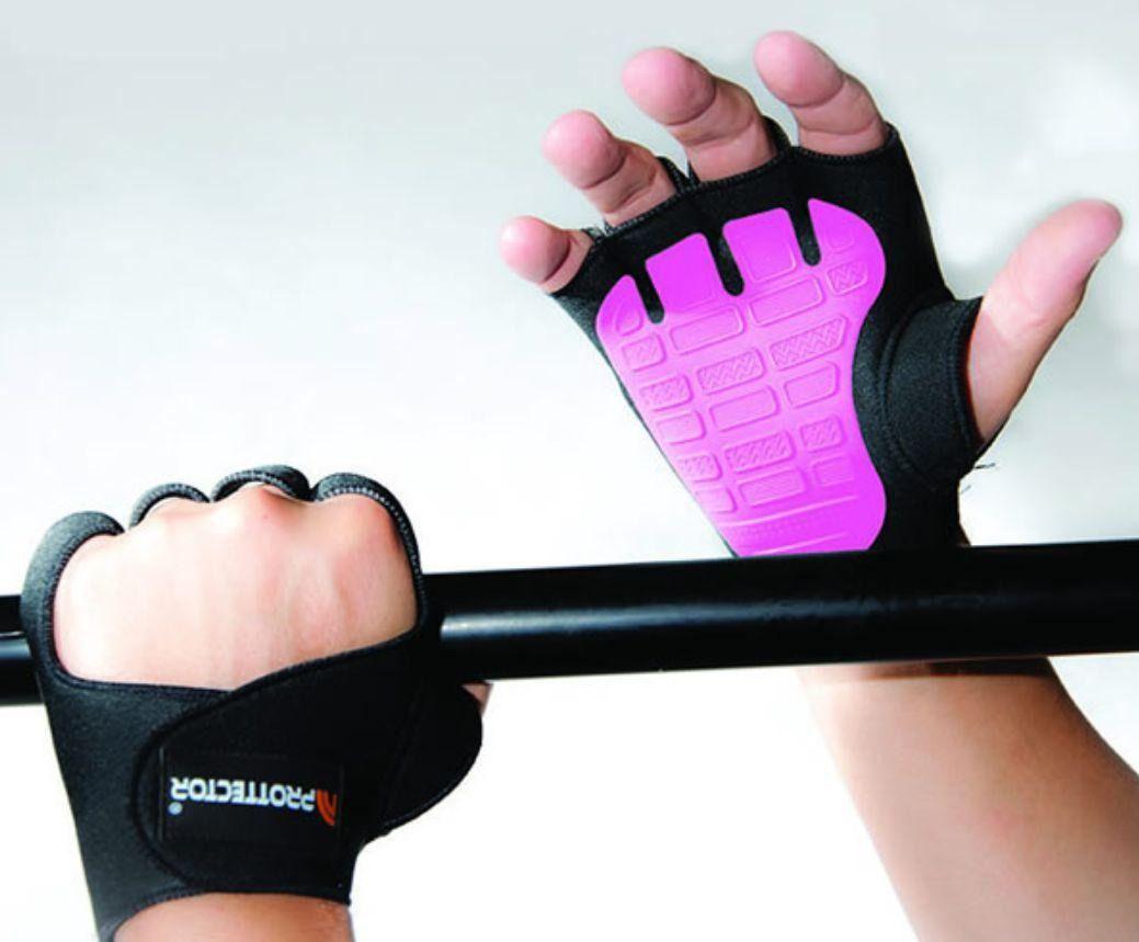 Luva de Musculação Rosa G - PROTTECTOR