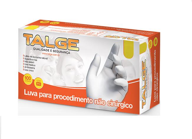 Luva de Procedimento Látex Tamanho PP Caixa c/ 10 Cartuchos - TALGE