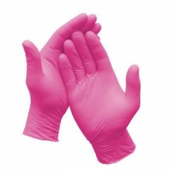 Luva Nitrílica Pink Tamanho M - SUPERMAX