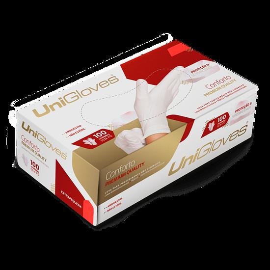 Luva Látex Conforto Premium Qualit S/ Pó M Caixa c/ 10 Cartuchos - UNIGLOVES