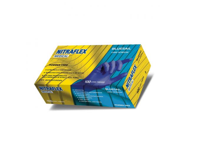 Luva Nitrilica Nitraflex Violeta Tamanho G - BLUESAIL
