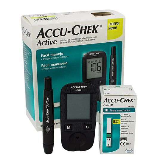 Kit Medidor de Glicemia Active - ACCU-CHECK