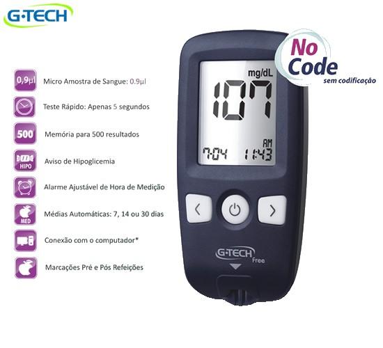 Medidor de Glicose Free - G-TECH