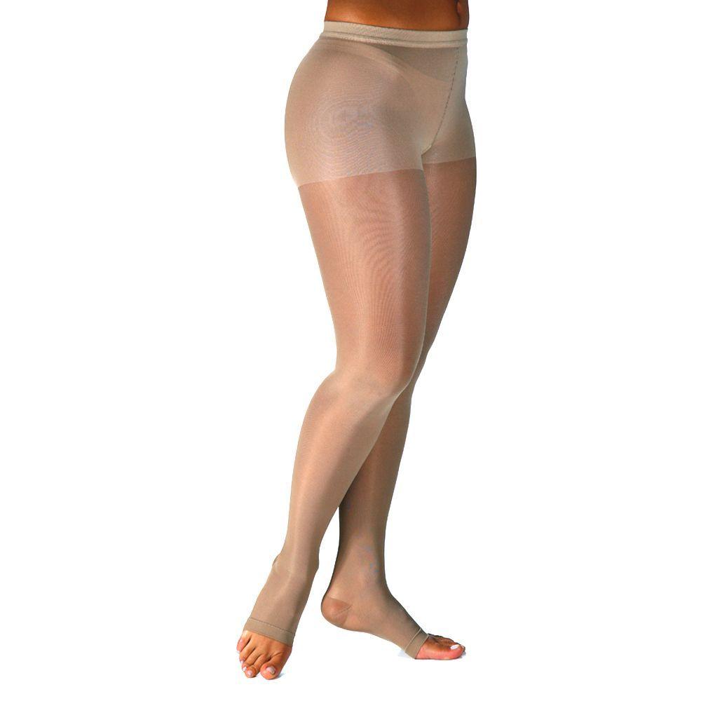 Meia de Compressão Audace Meia Calça Pont. Aberta 15-20mmHg Feminina Natural Tamanho B - SIGVARIS