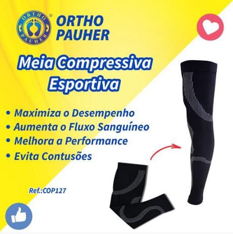 MEIA DE COMPRESSÃO DAS PERNAS - ELITE EVOLUTION - GG - COP127 - ORTHO PAUHER