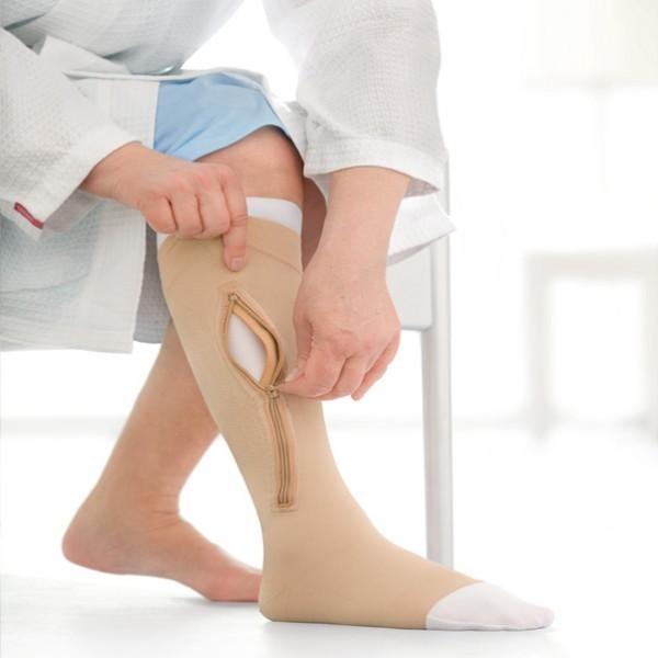 Meia de Compressão Jobst Ulcercare 40mmgh Panturrilha Esquerda G (C/ Zíper) - BSN MEDICAL