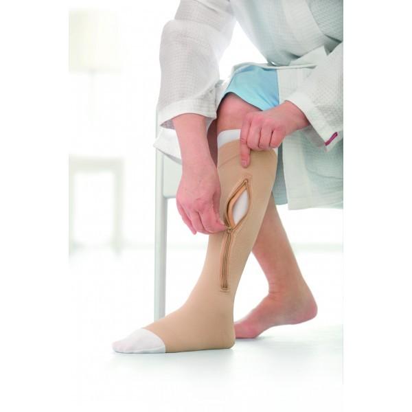 Meia de Compressão Jobst Ulcercare 40mmgh Panturrilha Esquerda M (C/ Zíper) - BSN MEDICAL