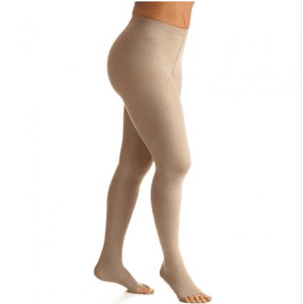Meia de Compressão Select Comfort Premium Meia Calça Pont. Aberta 20-30mmHg Unissex Natural Normal P2 - SIGVARIS
