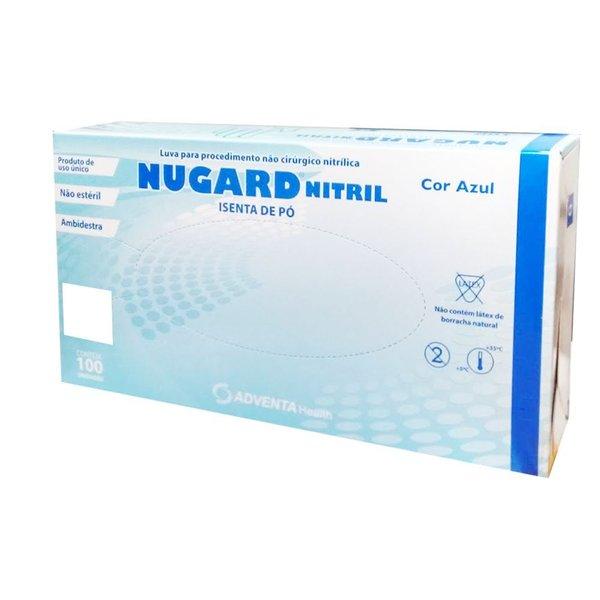 Luva Nitrílica Azul Tamanho M - NUGARD