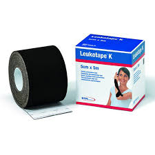 Fita de Kinésio Tape Leukotape 5 cm x 5 m (Preto) -  BSN Medical